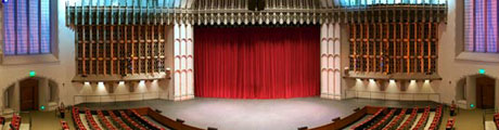 The main stage in Bovard Auditorium.